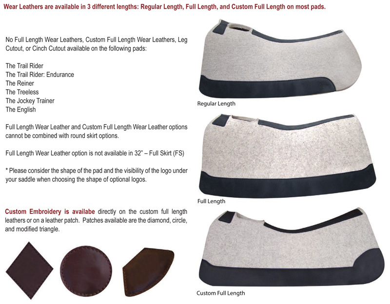 Product Details | Custom Wear Leathers for 5-Star Saddle