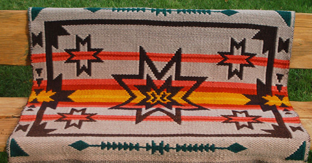 Hand-Woven Saddle Blanket: click to enlarge