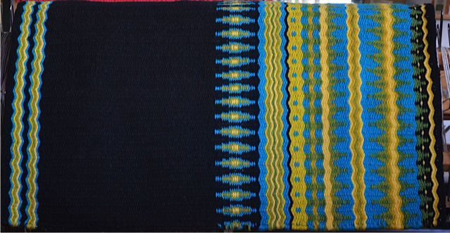 """Chamisa Ridge"" Hand-Woven Saddle Blanket: click to enlarge"