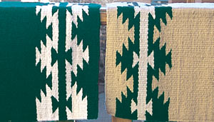 Hand-Woven Saddle Blanket from the Brown Cow Studio in Santa Fe: click to enlarge
