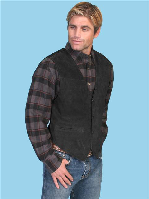 Suede Vest for Men by Scully Leather: click to enlarge
