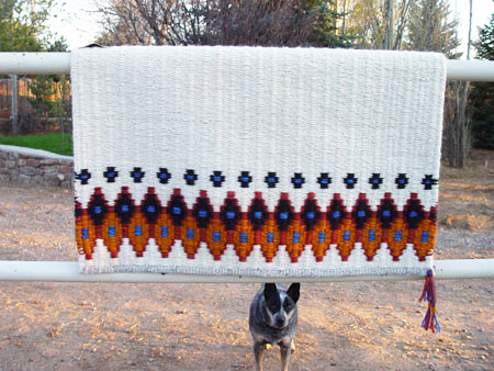 """Houla's Favorite"" Hand-Woven Saddle Blanket: click to enlarge"