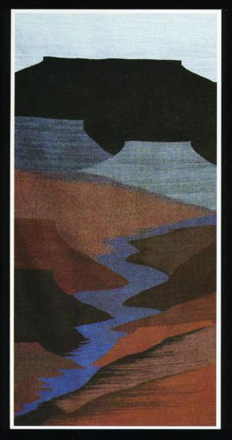 """Acoma Canyon"" Tapestry by Tina B. Woolley: click to enlarge"