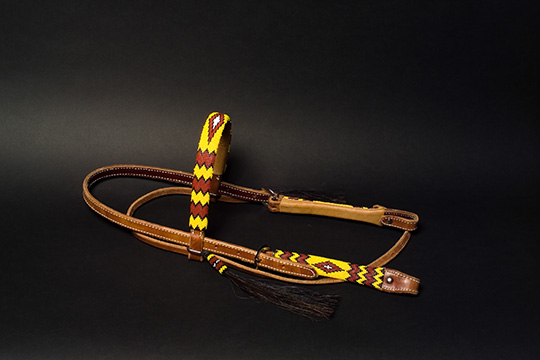 """Wild Horse Morning"" Beaded Headstall: click to enlarge"