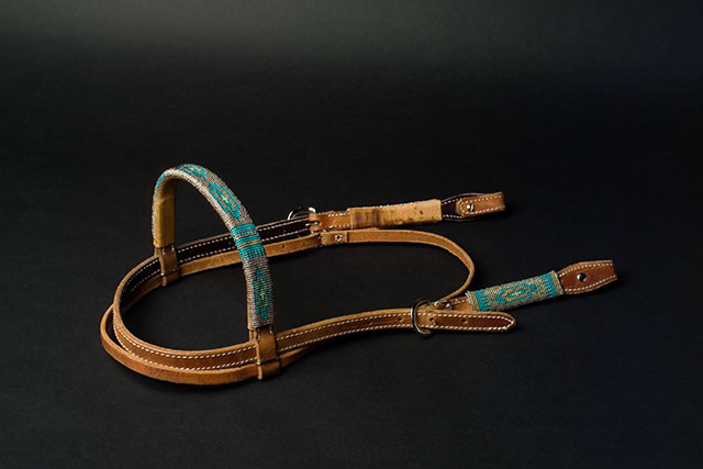 Handmade Beaded Headstall: click to enlarge