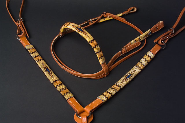 """Sparkle"" Handmade Beaded Tack Set: click to enlarge"