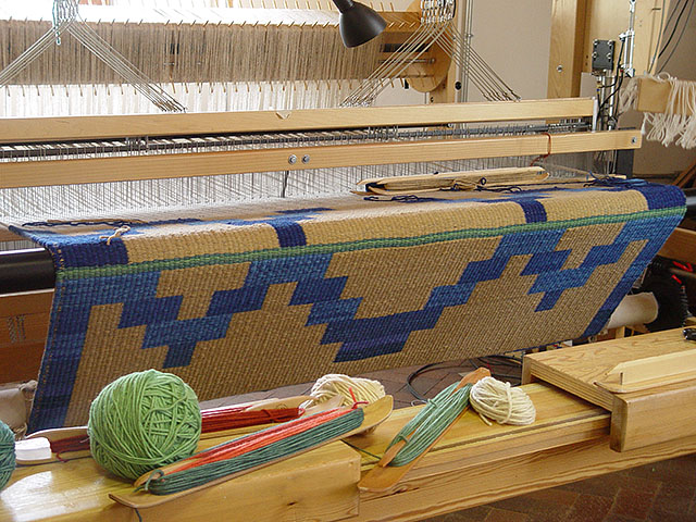 Rug On The Loom: click to enlarge