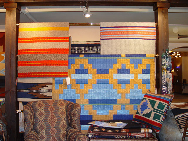 Hand-Woven Rugs by Tina B. Woolley: click to enlarge