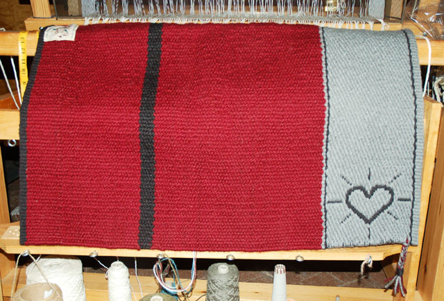 "Handmade ""Heart Brand"" Saddle Blanket by Christina Bergh: click to enlarge"
