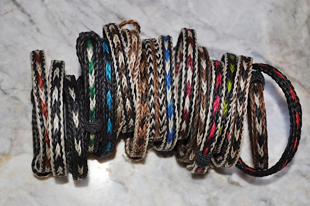 Braided Horsehair Bracelet by Wild West Braiding