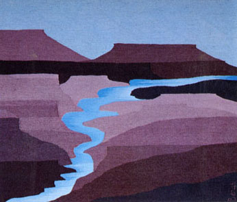 """Jemez Springs"" Tapestry by Tina B. Wooley: click to enlarge"