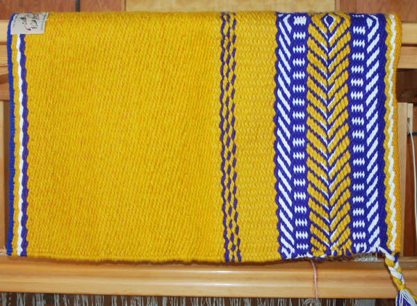 """Lapiz Morning"" Saddle blanket Made in Santa Fe by The Brown Cow Saddle blanket Company"