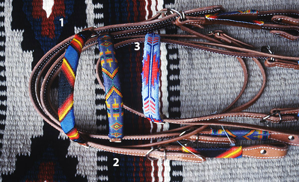 Handmade Beaded Headstalls: click to enlarge