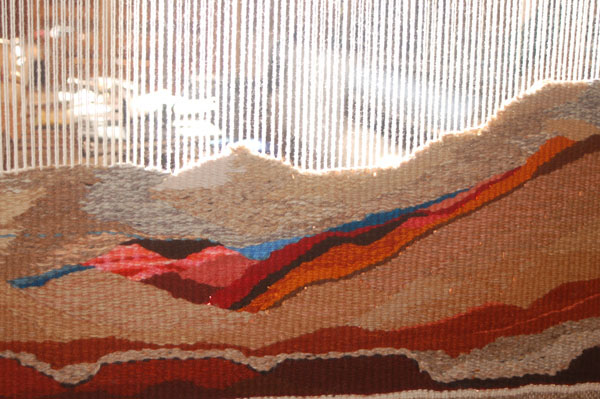 Tapestry on the Loom: click to enlarge
