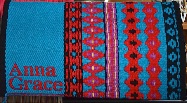"""Anna Grace"" Branded Saddle Blanket by Christina Bergh: click to enlarge"