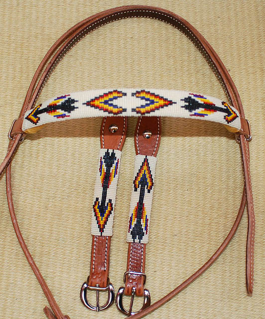 """Apache Nights"" Beaded Headstall: click to enlarge"