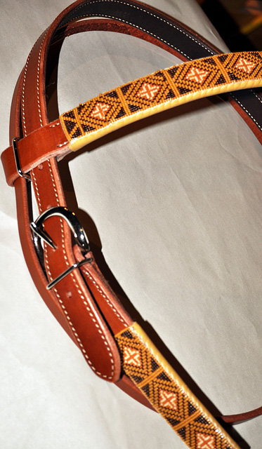 """Buffalo"" Beaded Headstall: click to enlarge"