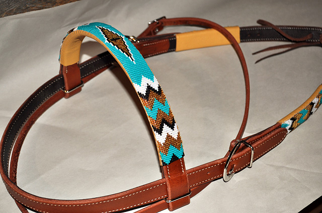 """Chimayo"" Beaded Headstall: click to enlarge"
