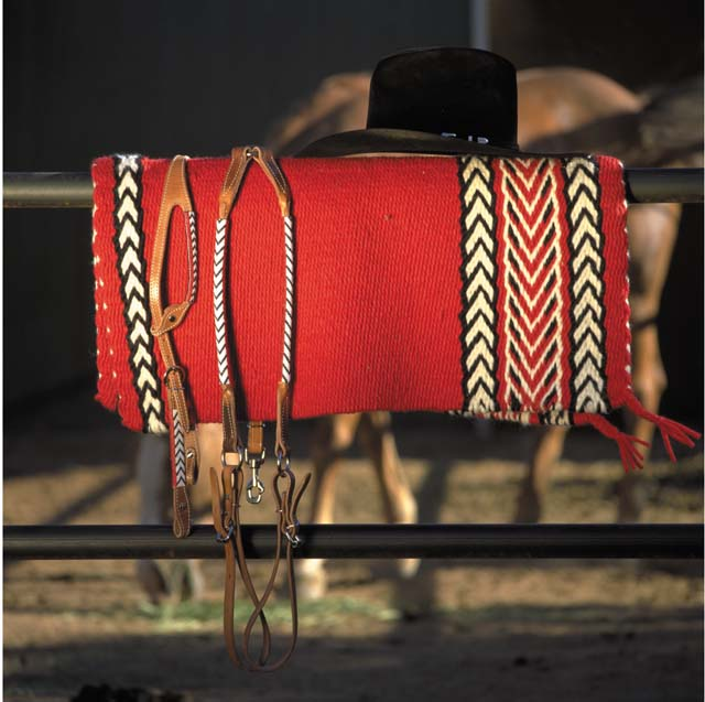 Handwoven Saddleblanket and Beadwork Set