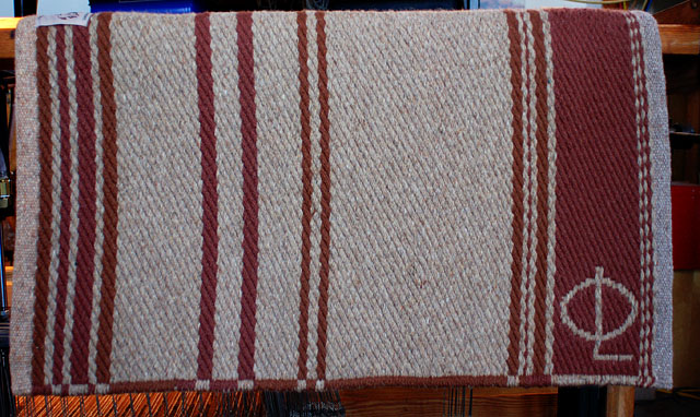 "Handmade ""Branded"" Saddle Blanket: click to enlarge"