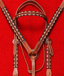 """Copper Mountain"" Handmade Beaded Tack Set: click to enlarge"