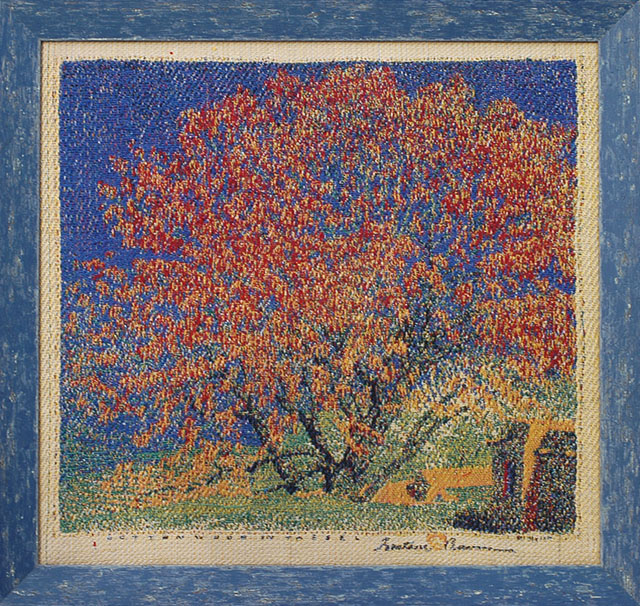 """Cottonwood in Tassel"" Gustave Baumann Tapestry by Tina B. Woolley: click to enlarge"