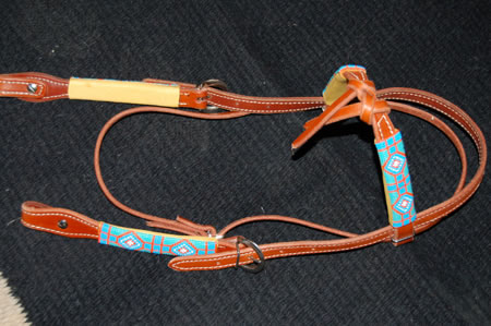 Top-Knot Beaded Headstall: click to enlarge