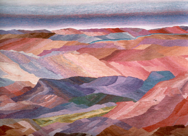 """Rio Arriba Dawn"" Tapestry by Tina B. Woolley: click to enlarge"