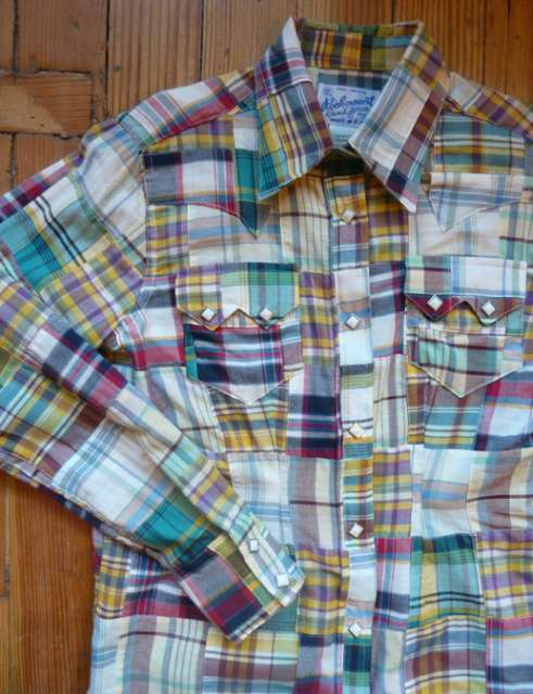 Women's Companion Patchwork Plaid Western Shirts by Rockmount: click to enlarge