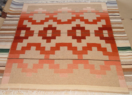 Reversible Southwestern Rug by Tina B. Woolley: click to enlarge