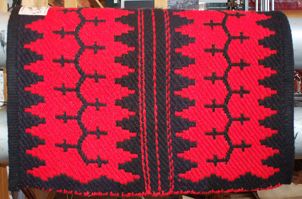 """Navajo Journey II"" Hand Woven Historic Reproduction Saddle Blanket: click to enlarge"