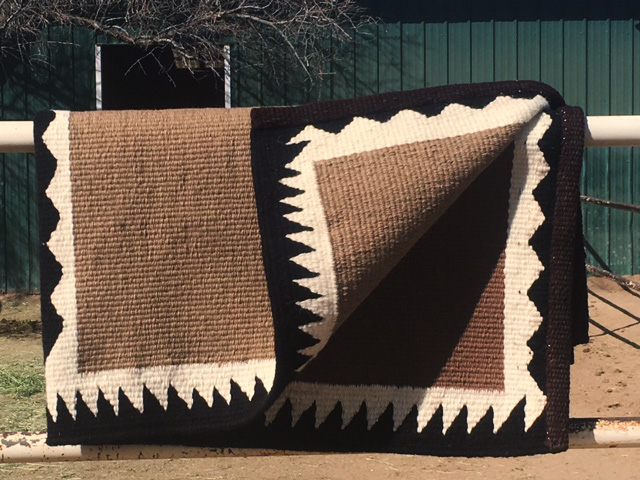 """Santiago"" Hand Woven Doublefold Saddle Blanket: click to enlarge"