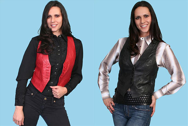 Women's Leather Vest by Scully Leather