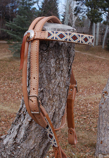 """Shalakoe Dance"" Beaded Headstall: click to enlarge"
