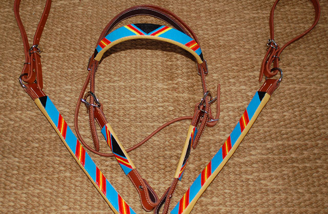 Handmade Beaded Tack Set: click to enlarge