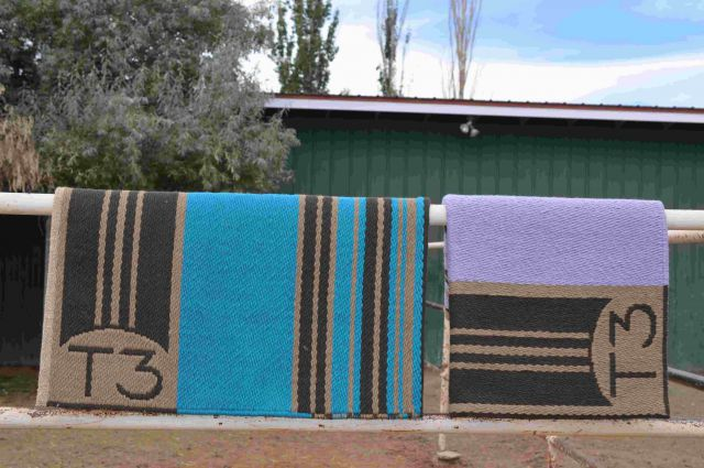 Custom Woven T3 Saddleblanket: click to enlarge