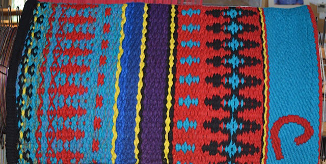 """Tipped C"" Branded Saddle Blanket by Christina Bergh: click to enlarge"