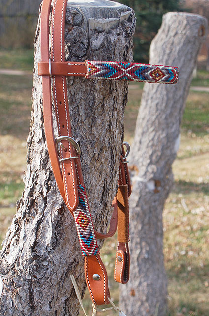 """Winter Dream"" Beaded Headstall: click to enlarge"