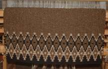 """Fence Line"" Hand-Woven Saddle Blanket"