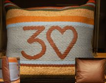Three Heart Pillow by Tina B. Woolley