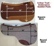 Trail and Endurance Riding Saddle Pad by 5-Star