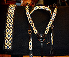 Hand-Made Beadwork set. Breastcollar, Headstall and Saddle Blanket