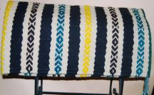 Hand-Woven Saddle Blanket from the Brown Cow Studio in Santa Fe