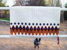 """Houla's Favorite"" Hand-Woven Saddle Blanket"