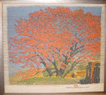 """Cottonwood in Tassel"" Gustave Baumann Tapestry by Tina B. Woolley"