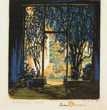 """Morning Sun"" Gustave Baumann Tapestry by Tina B. Woolley"