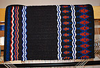 """Black Diamond"" Hand Woven Saddle Blanket Made in Santa Fe by The Brown Cow Saddle Blanket Company"