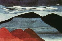 """Blue Mesa"" Tapestry by Tina B. Woolley"