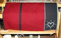 "Handmade ""Heart Brand"" Saddle Blanket by Christina Bergh"