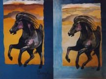 """Running Horse"" Tapestry by Tina B. Woolley"